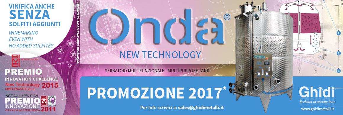 Vinificatore Onda - Promozione 2017
